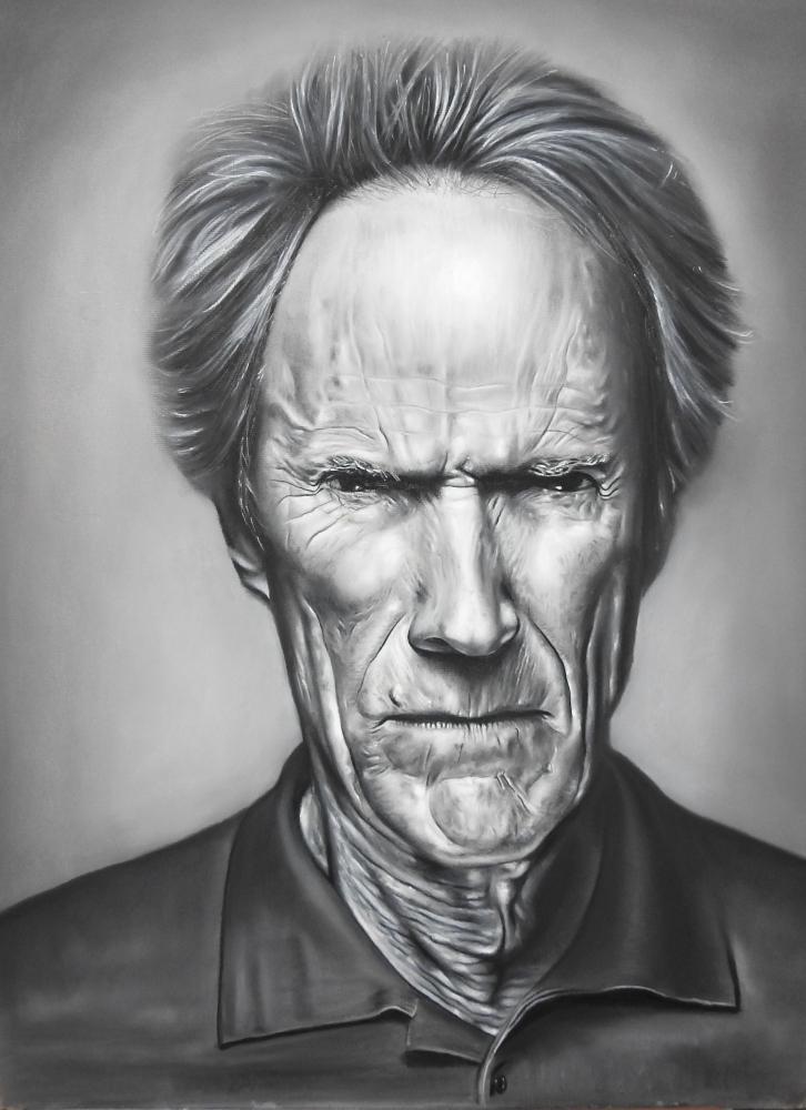 Clint Eastwood por ricopainting